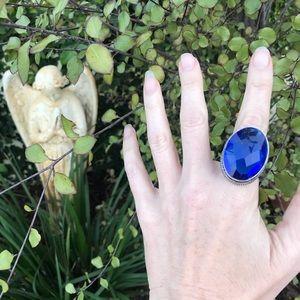 Jewelry - Blue Tanzanite gemstone OVAL RING STERLING SILVER
